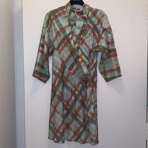 Missoni plaid silk dress